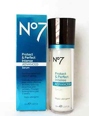 Boots No7 Protect and Perfect Intense Advanced Anti Aging Serum Bottle - 1 Oz