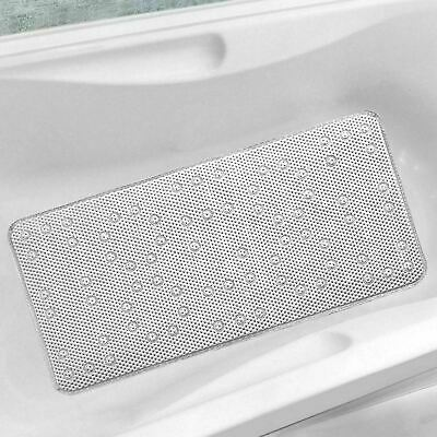 New Extra Long Cushioned Bathmat Relaxing Anti Slip Shower Mat With Suction Cups