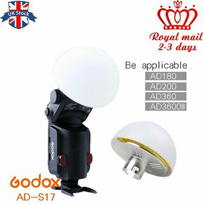UK Godox AD-S17 Wide Angle Soft Focus Shade Dome Diffuser for AD200 AD-360 Flash