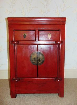 Pretty Chinese Red Lacquer Cabinet