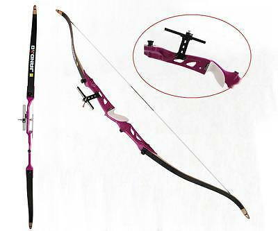 "New 70"" Archery Recurve Bow Fiberglass Takedown 24-40lbs Target Hunting Longbow"