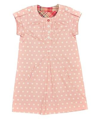 BNWT Girls Pinguette Designer Pink Polka Dot Cotton Dress - Ages 2 to 8 years