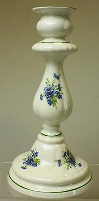 Blue Floral James Kent Old Foley Candlestick Made in England VA27