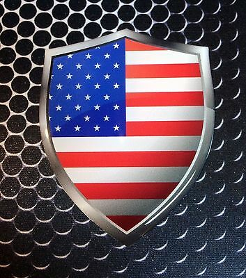 "America Flag Domed Decal USA Emblem Car 3D Sticker 1.75/""x1.1/"" Set of 2 or 4"