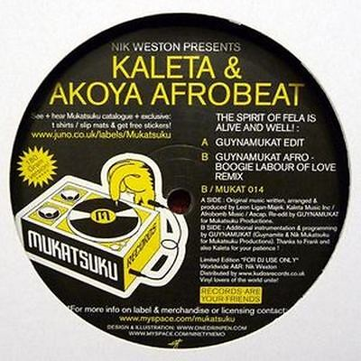 Kaleta & Akoya Afrobeat - The Spirit Of Fela Is Alive And Well! 12""