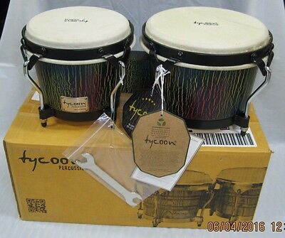 Tycoon Percussion STBS-B DI 7 and 8-1/2 Inches Supremo Series Bongos, Dark Iris