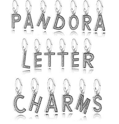 Pandora Letter Charms , Original, Brand New, Sterling Silver, US Seller