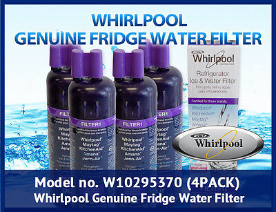 4 x Whirlpool  Genuine Fridge Water Filter W10295370