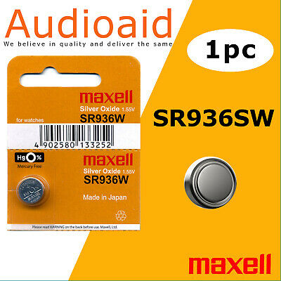 2Pc Sr936Sw (394) Genuine Maxell Silver Oxide Battery - Made In Japan (Not Fake)