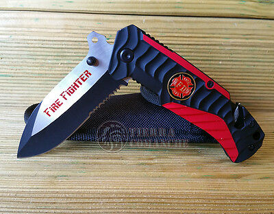 Navaja Tactica Rescate FIRE FIGHTER Knife Messer Coltello Couteau