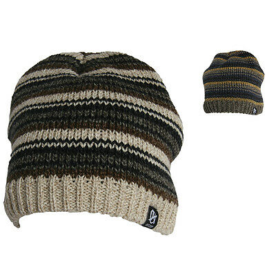 Anticorp Striped Lined Beanie Snow Surf, Fleece Lined