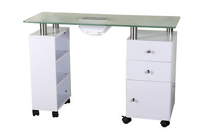 Shelf & Cabinet Manicure Table with Built-in Dust Extractor-AU seller NEW