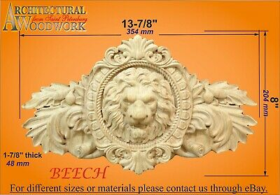 Wooden carved decor with Lion Head   RZ_018_22