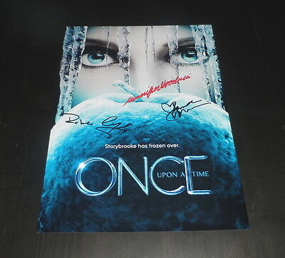 "Once Upon A Time Castx3 Pp Signed 12""x8"" A4 Photo Poster Robert Carlyle"