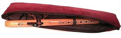 Padded zippered soft case for Native American Flute medium up to 25.5""