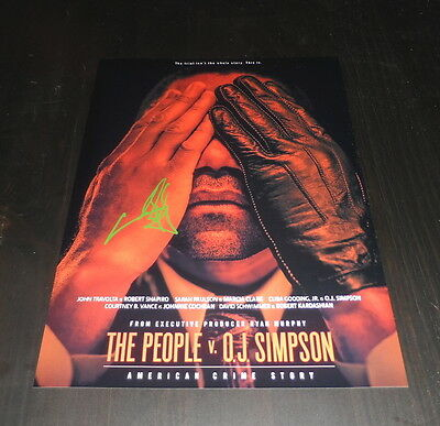 """The People V. O.j. Simpson Pp Signed 12""""x8"""" A4 Photo Poster Cuba Gooding Jr."""