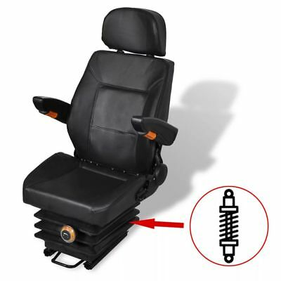 Tractor Seat Spring Suspension + Slide Track Compact Mower Seating w/ Backrest