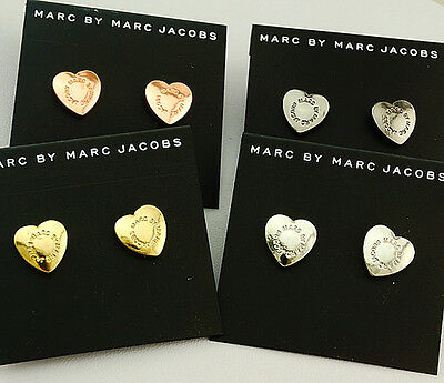 Hot sale Marc by Marc Jacobs 4Colors Love Heart Logo Letters MJ Earring #E032X
