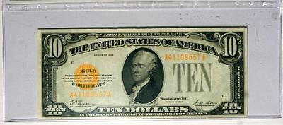 1928 $10 Gold Certificate Fr 2400 Bank Fresh GEM UNCIRCULATED Great COLOR A+++++