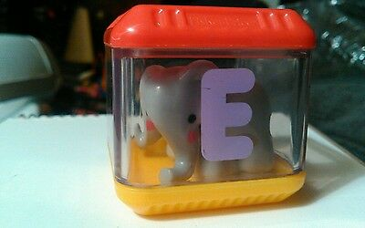 Fisher Price Peek A Blocks Letter E Elephant Alphabet Replacement Block