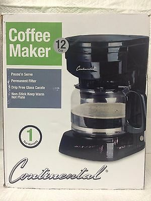 Continental Electric Coffee Maker 12 Cup Capacity Model CE23621 White