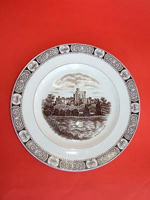 Vintage Staffordshire Pottery Wall Plate w Windsor Castle 1920.s