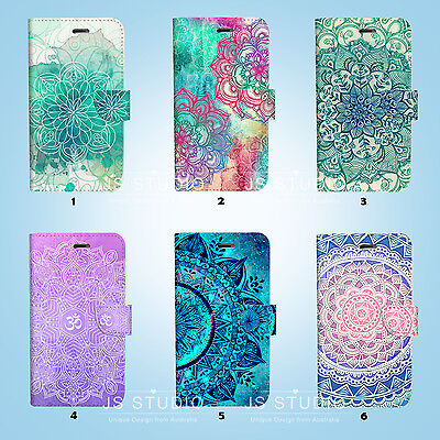 Mandala Pattern Wallet Case Cover Samsung Galaxy S3 4 5 6 7 Edge Note Plus 048