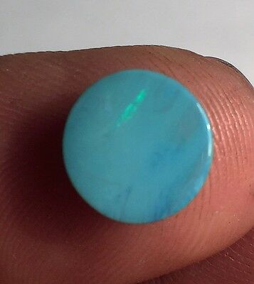 "Australian Cabochon Doublet Natural Opal ready to be set 9mm x 9mm ""G"""