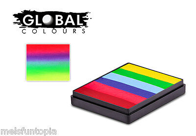 Global Colours 50g Positano Rainbow Cake, Professional Face & Body Paint Party