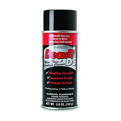 Electrical Contact Cleaner Spray 5oz Aerosol Deoxit Metal Connector Cleaning