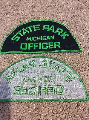Unsewn Michigan State Park Officer Shoulder Patch
