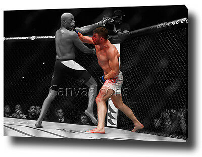 Michael Bisping Canvas Print Poster Photo Wall Art Ufc Silva Artwork 2016