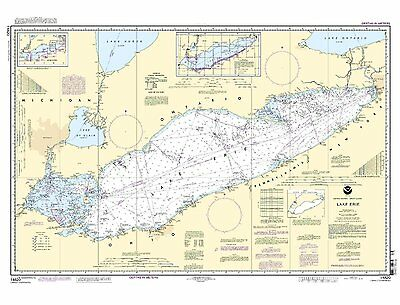 NOAA Chart Lake Erie (includes Metric version) 21st Edition 14820