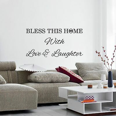 Bless this Home with Love & Laughter decorative wall art sticker quote