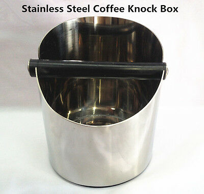 AZ 11*11CM STAINLESS STEEL COFFEE KNOCK BOX COFFEE WASTE BIN HEAVY DUTY 514g