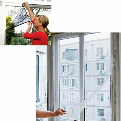 Insect Fly Bug Mosquito Door Window Net Netting Mesh Screen Sticky Tape Protect