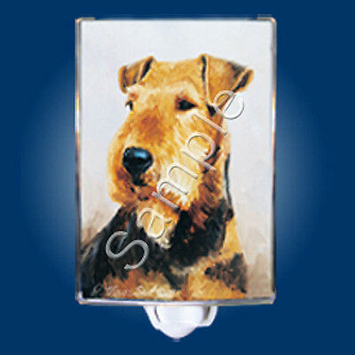 NEW Ruth Maystead Best Friends Dog Night Light Airedale Terrier