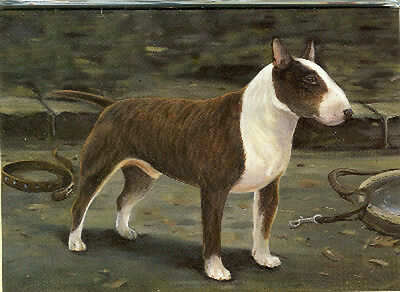 Illustrated Breeds Note Cards (blank) NOS Bull Terrier by Michael J. Clark
