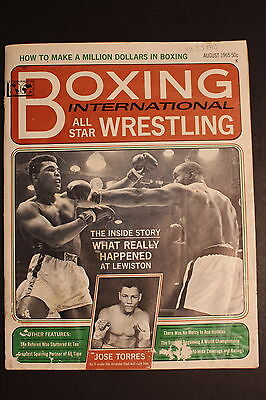 Cassius Clay MUHAMMAD ALI vs SONNY LISTON Boxing Wrestling Mag #8 August 1965 GD