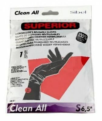 Sibel Professional Hairdressing Clean All Gloves Reuseable Sizes S/m/l/xl Black