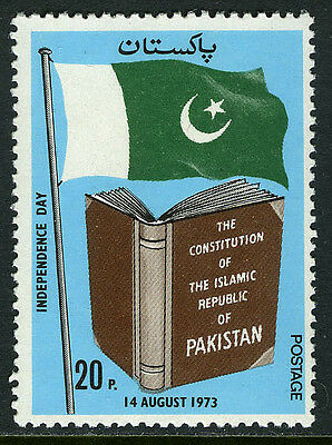 Pakistan 346, MNH. Independence Day. Flag, Constitution, 1973