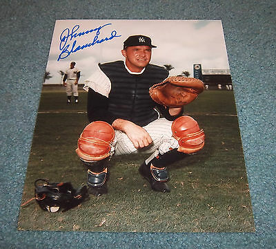 NY Yankees Johnny Blanchard Signed Autographed 8x10 Photo