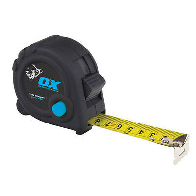 Ox Tools Trade Tape Measure - Sizes 3M - 5M - 8M - Duragrip Moulded Rubber Case