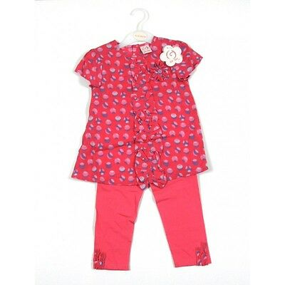 Bnwt Baby Girls Zip Zap Pink Spotted Top & Leggings Outfit Ages 12-18 Months