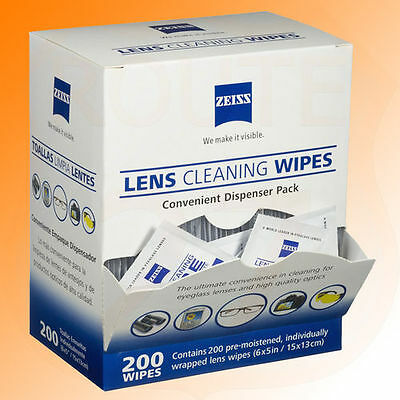 Zeiss Lens Wipes 200 pieces spectacles lenses screen monitor tablet phone