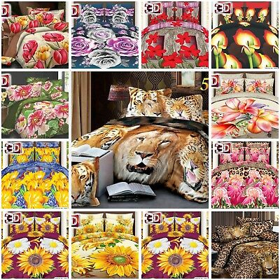 3D Effect bed set, complete duvet set, pillow cases single, double, king 4pieces