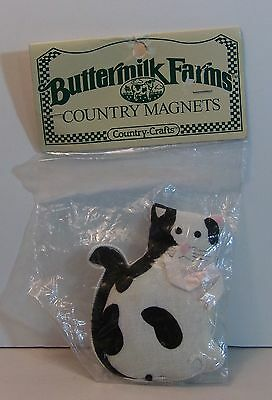 Buttermilk Farms Country Magnets Plush Cat Refrigerator Magnet