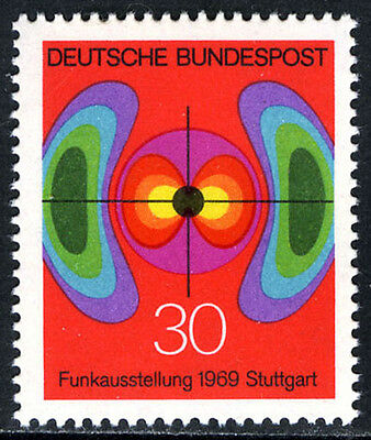 Germany 1005, MNH. German Radio Exhibition,Stuttgart.Electromagnetic Field, 1969
