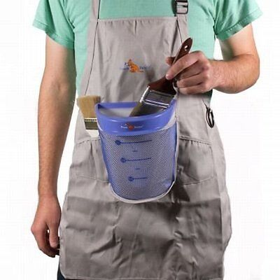 Pouch Painter Hands-Free Break/Spill Resistant Bucket Apron Holds Paint Brushes,