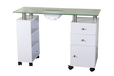 Luxurious Shelf & Cabinet Manicure Table with Dust Extractor-AU seller NEW